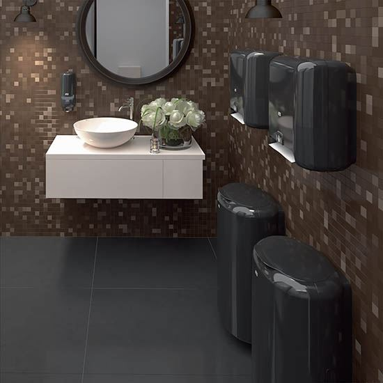 distributeur papier toilette tork elevation t3 noir. Black Bedroom Furniture Sets. Home Design Ideas
