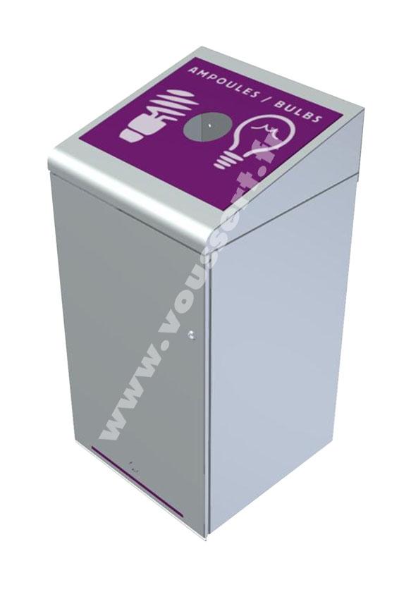 etiquette poubelle tri rossignol ampoules violet tripoz. Black Bedroom Furniture Sets. Home Design Ideas