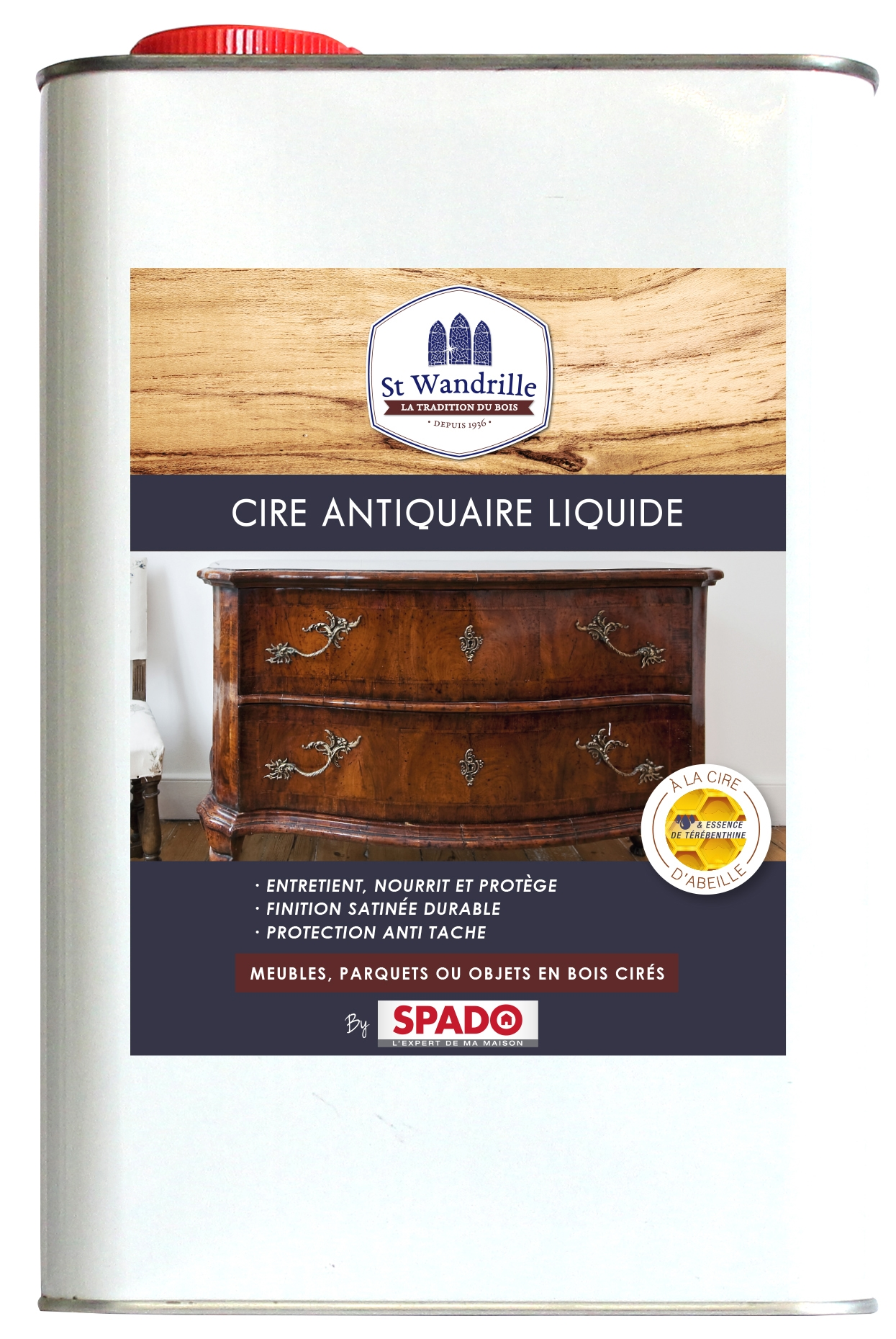 Cire st wandrille meuble parquet for Insecte bois meuble