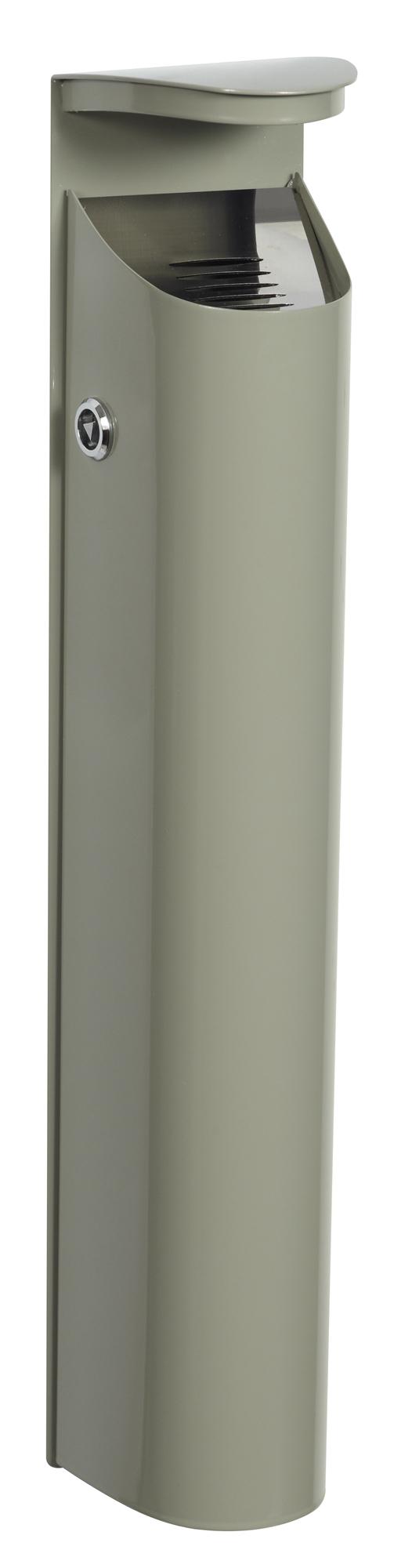 Cendrier exterieur mural rossignol 2 5l gris ciment for Cendrier mural rossignol