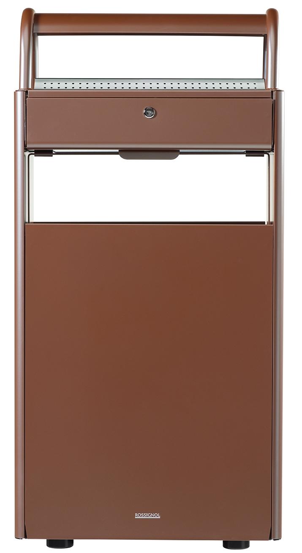 cendrier corbeille exterieur 12 l 60 l sur pied marron. Black Bedroom Furniture Sets. Home Design Ideas