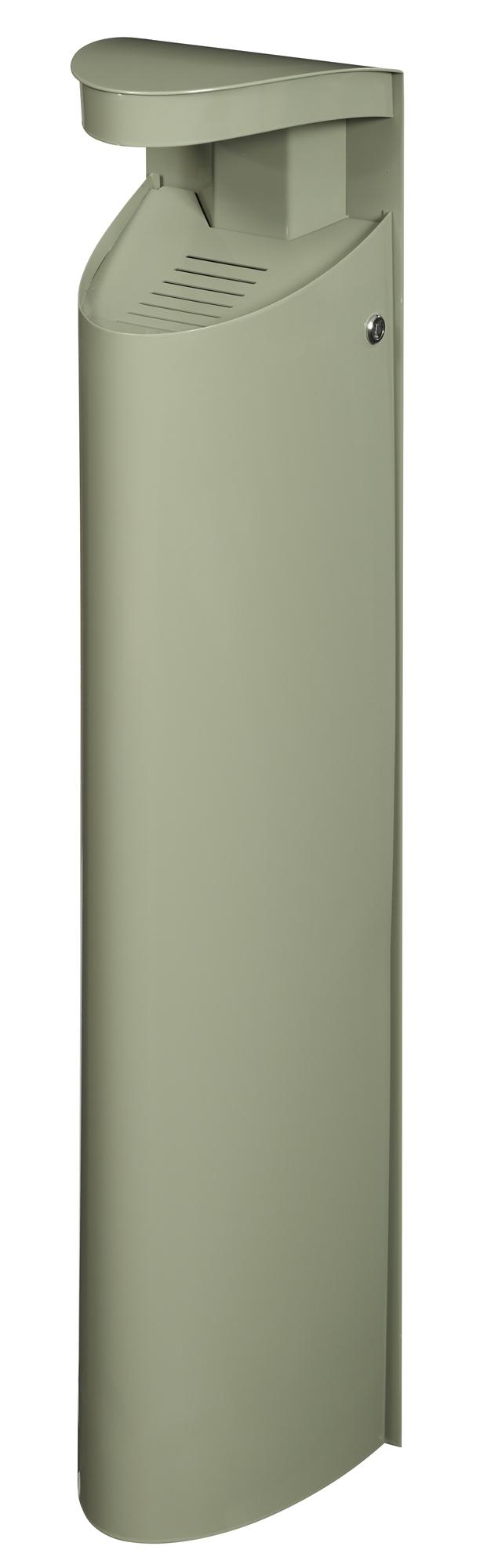Cendrier exterieur mural rossignol 6l gris ciment for Cendrier mural rossignol