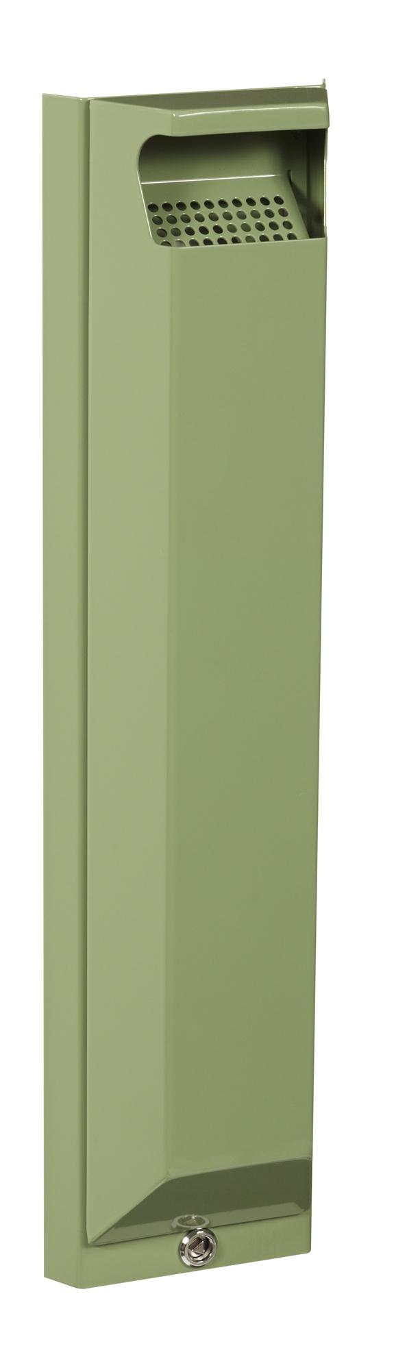 Cendrier exterieur rossignol mural 3l serrure vert reseda for Cendrier mural rossignol