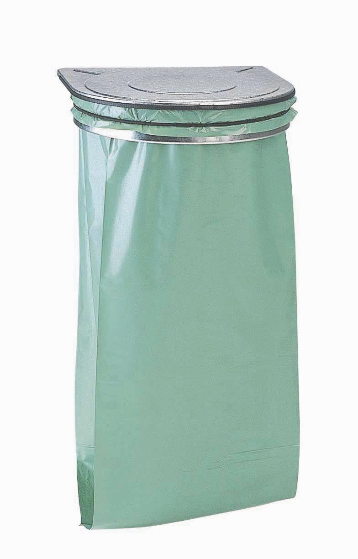 support mural sac poubelle rossignol acier galvanis 233