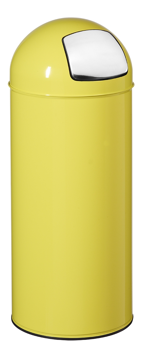 poubelle dome 45l rossignol jaune avec trappe. Black Bedroom Furniture Sets. Home Design Ideas