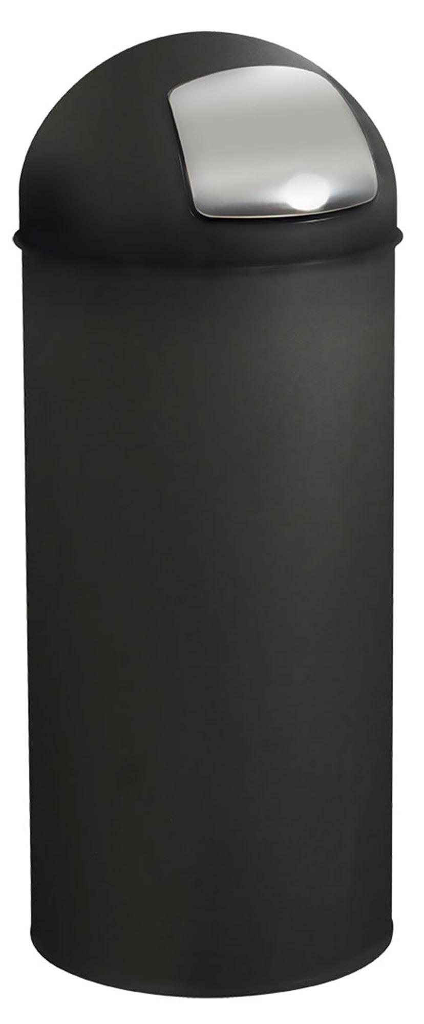 Poubelle rossignol grand volume noir avec trappe for Poubelle cuisine rossignol