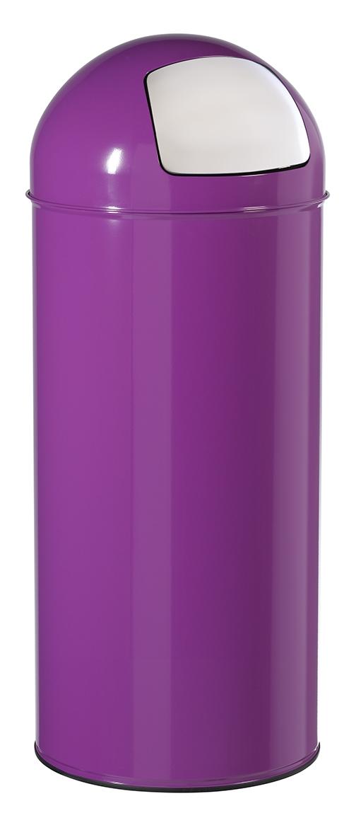 poubelle dome 45l rossignol violet avec trappe. Black Bedroom Furniture Sets. Home Design Ideas