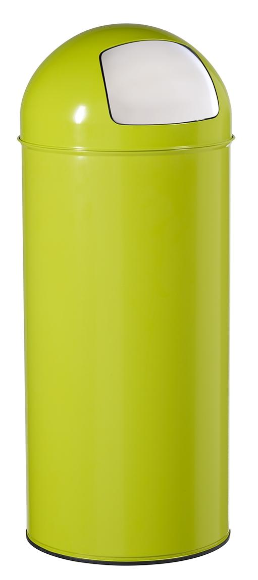 Poubelle dome 45l rossignol vert anis avec trappe for Poubelle cuisine vert anis