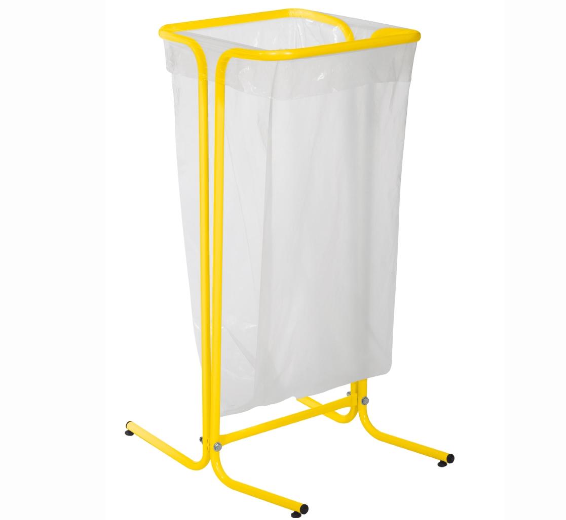 support sac poubelle rossignol 110 litres sur pieds jaune. Black Bedroom Furniture Sets. Home Design Ideas