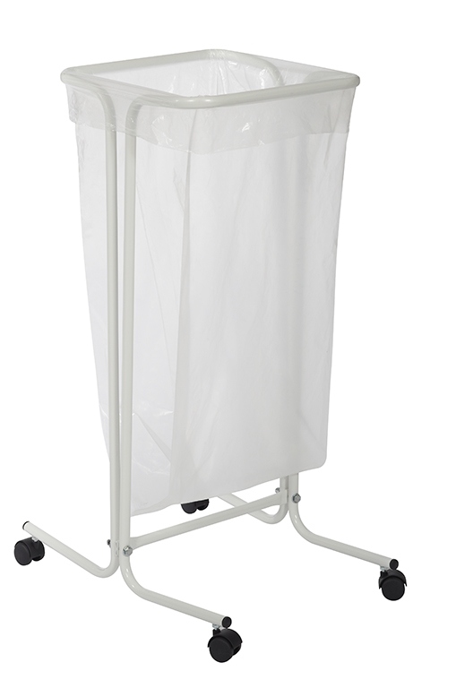 support sac poubelle rossignol 110 litres sur roulettes blanc. Black Bedroom Furniture Sets. Home Design Ideas