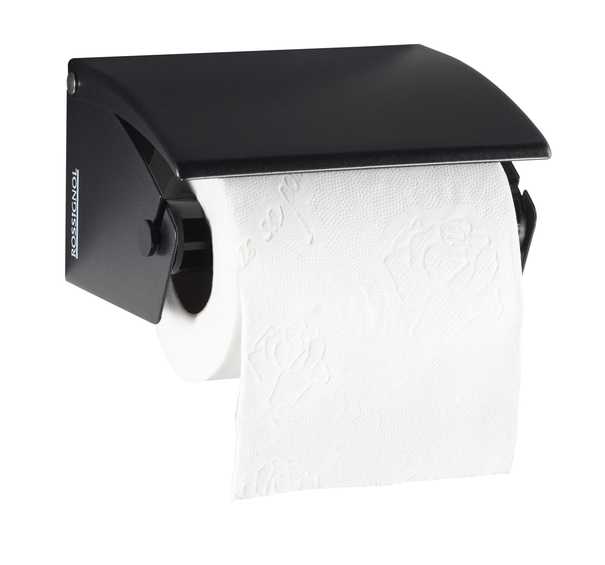 distributeur papier toilette acier pour rouleaux gris manganese. Black Bedroom Furniture Sets. Home Design Ideas