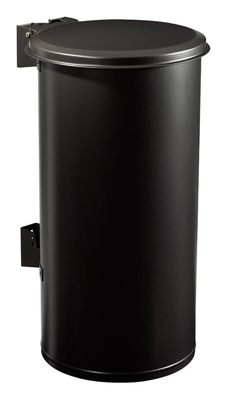 poubelle murale rossignol 80l couvercle gris manganese. Black Bedroom Furniture Sets. Home Design Ideas