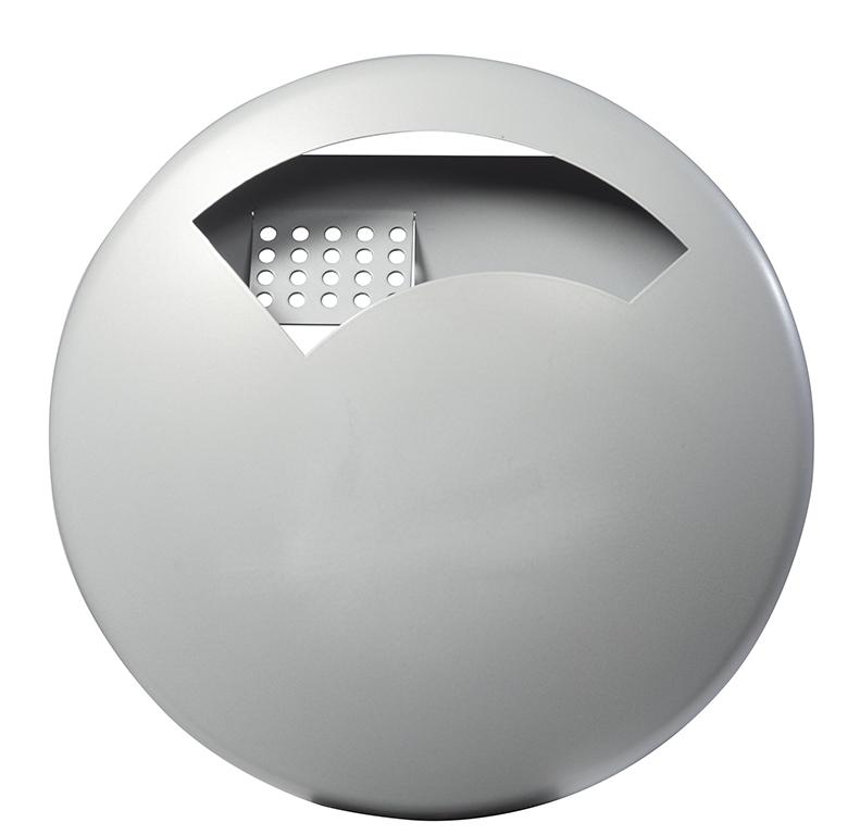 Cendrier ext rieur mural rossignol 0 5 l gris disco for Cendrier mural rossignol