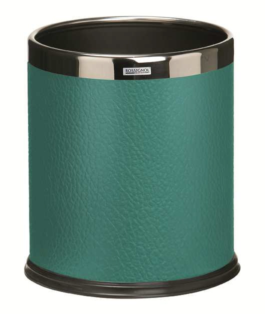corbeille a papier bureau design aspect cuir verte rossignol 10l. Black Bedroom Furniture Sets. Home Design Ideas