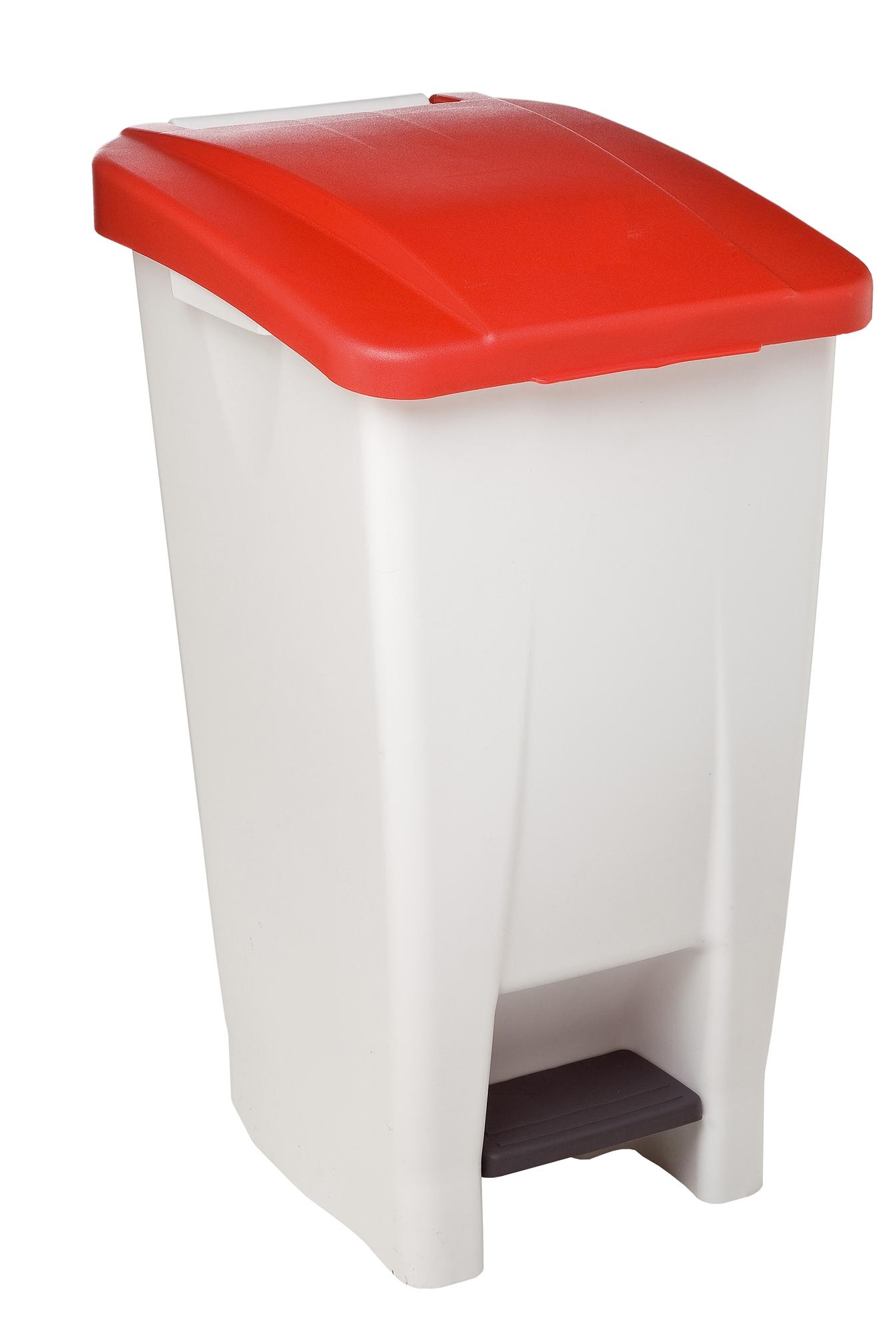 Poubelle de cuisine rossignol 60 litres haccp couvercle rouge - Poubelle de cuisine rouge ...