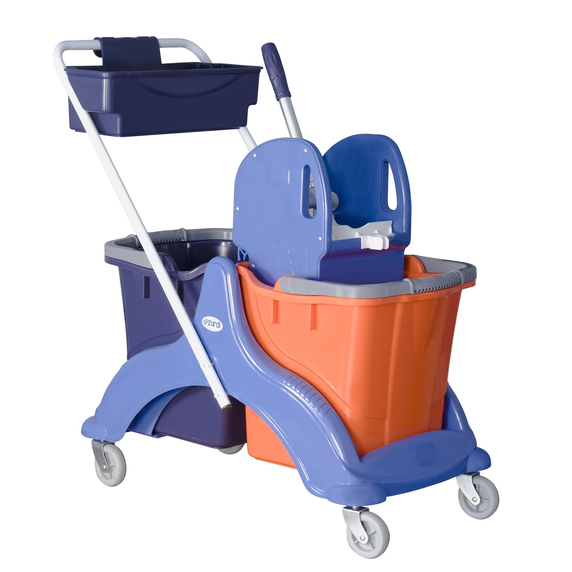 chariot de menage lavage 2x25 l avec presse machoire. Black Bedroom Furniture Sets. Home Design Ideas
