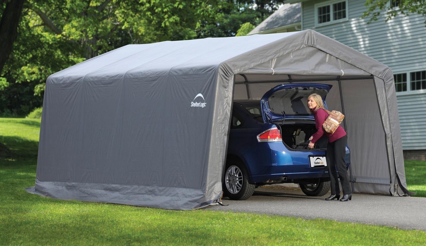 garage d montable voiture shelterlogic promo. Black Bedroom Furniture Sets. Home Design Ideas