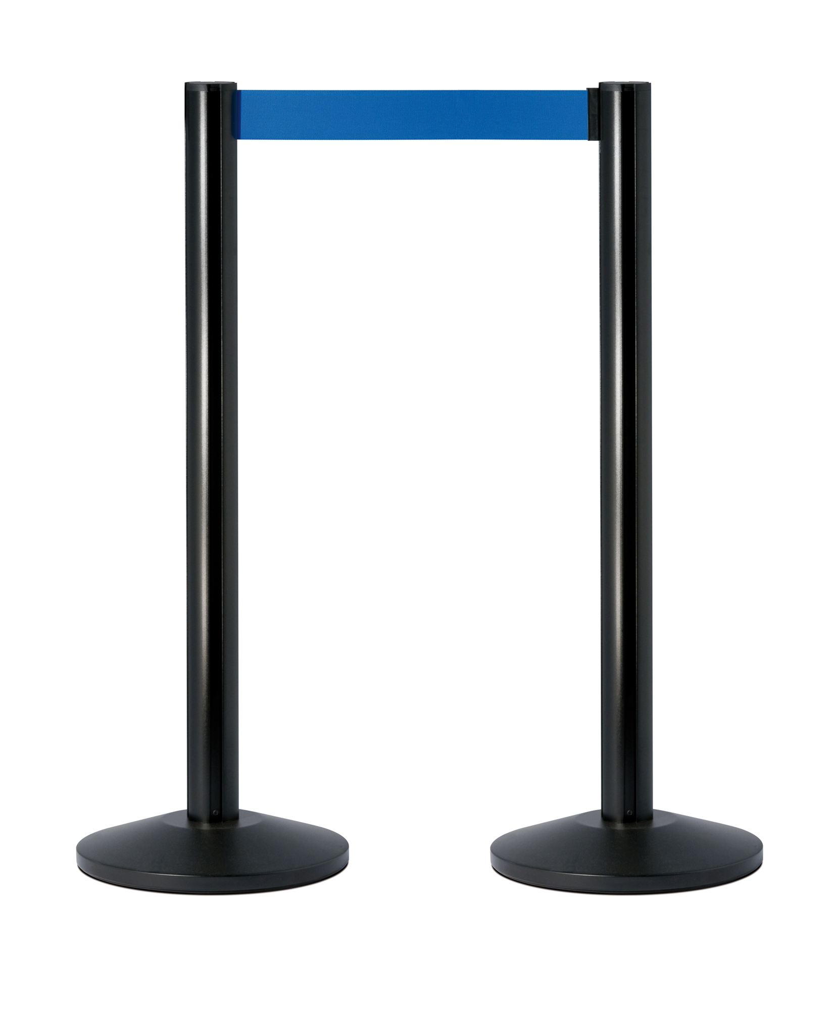 Barriere extensible colonne aluminium noir ruban bleu - Colonne aluminium prix ...