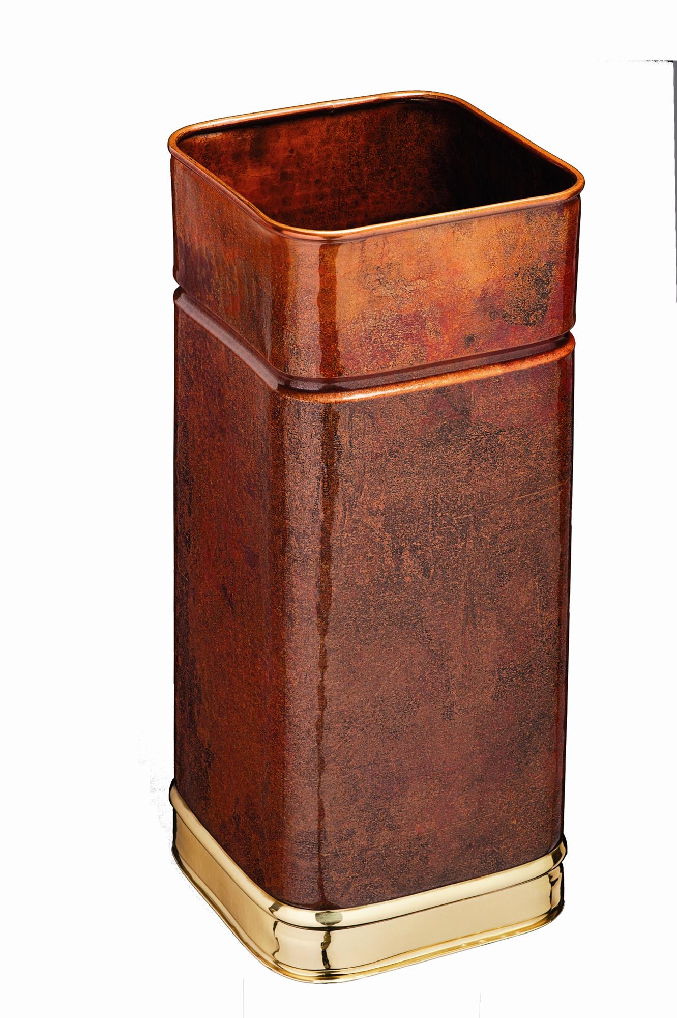 Porte parapluie cuivre carr 22l - Porte parapluie exterieur ...