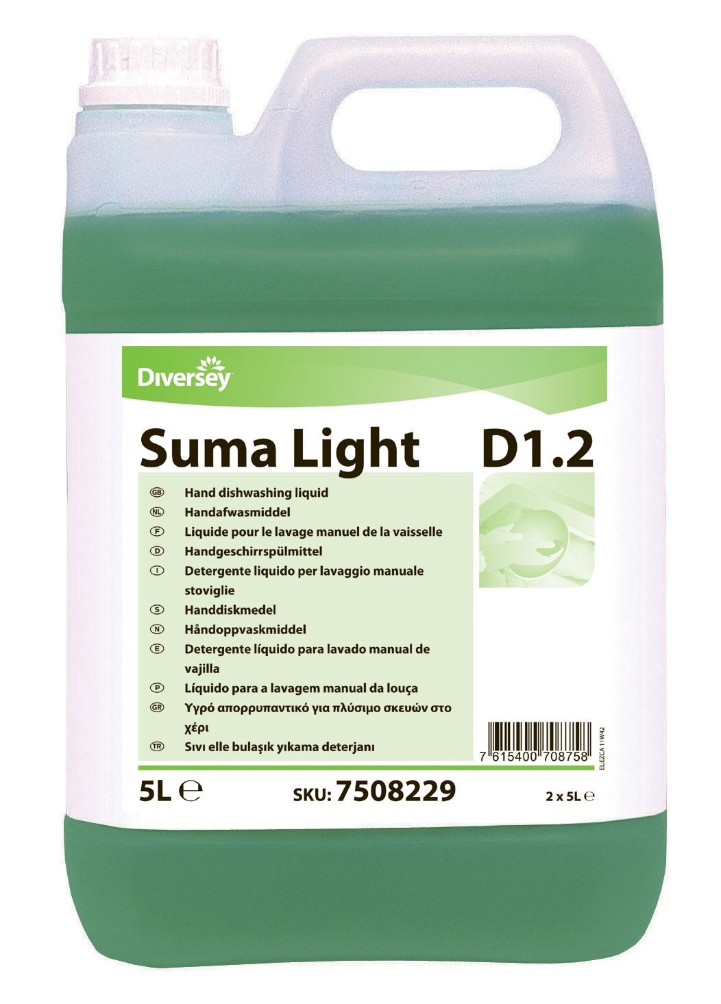 Suma Light D1 2 Johnson Diversey Vaisselle Manuelle 2 X 5 L
