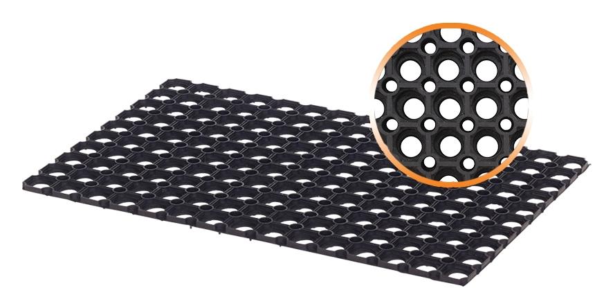 tapis caillebotis caoutchouc exterieur 80 x 120 cm 17 mm - Tapis Caoutchouc