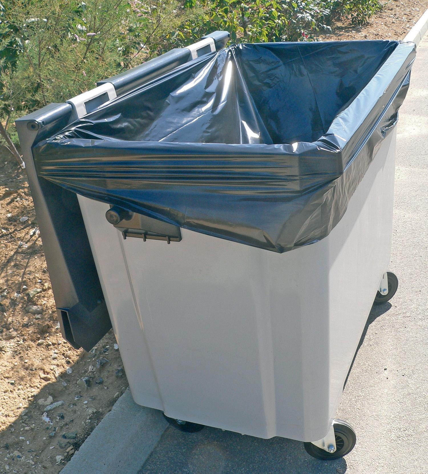 Sac poubelle housse conteneur 660 l for Container occasion pour habitation