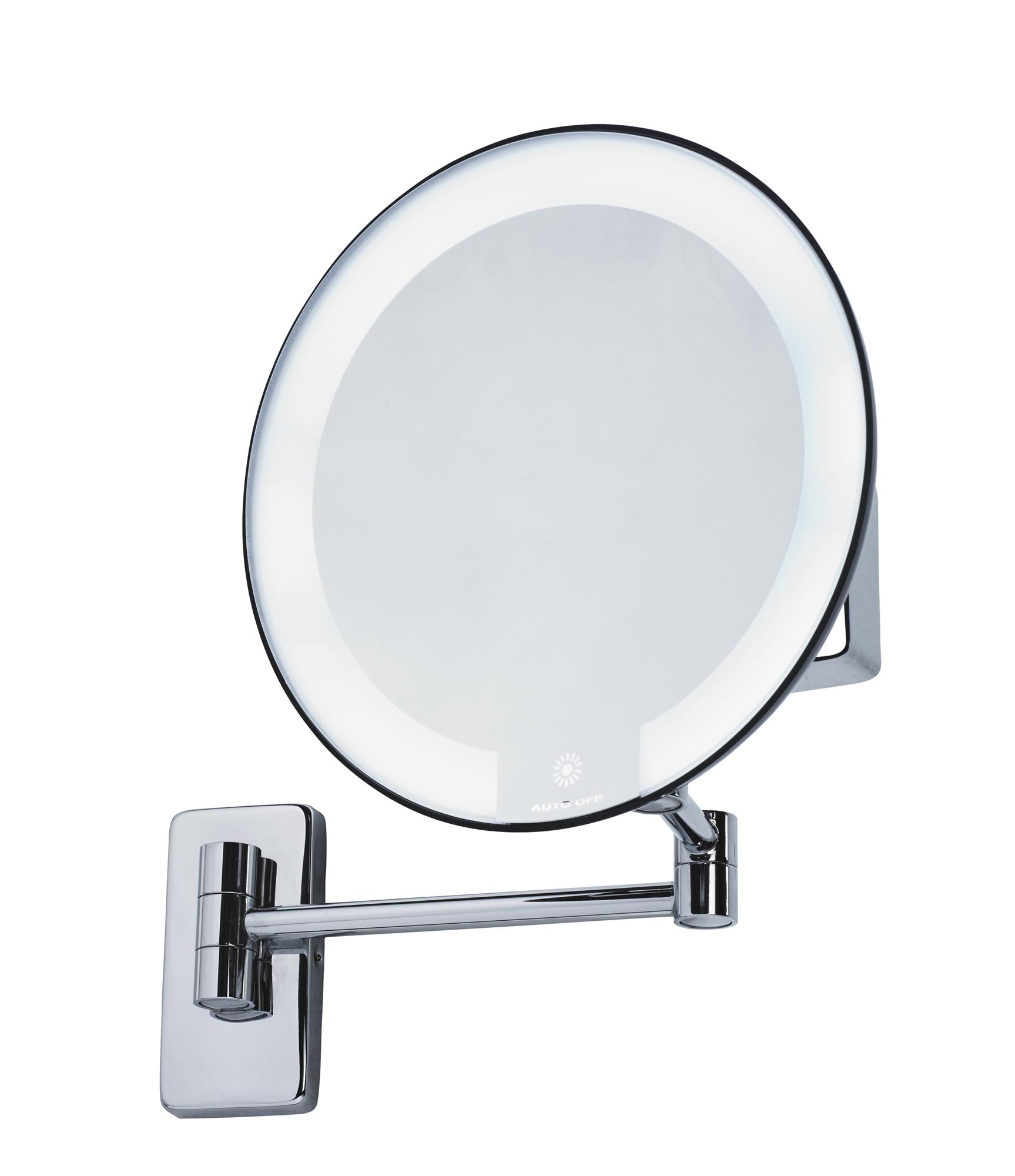Miroir grossissant lumineux rond jvd cosmos noir - Miroir salle de bain grossissant ...