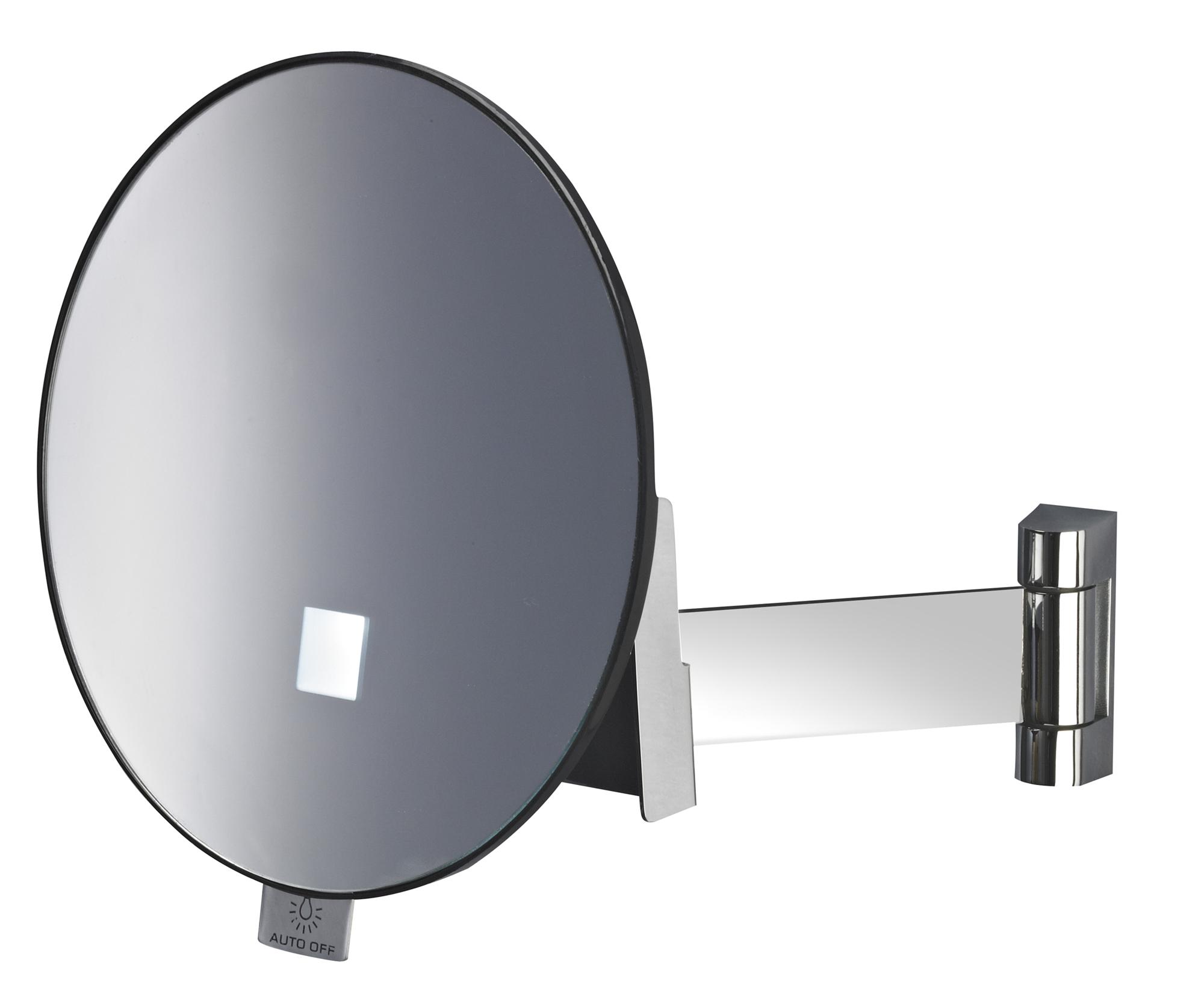 miroir grossissant lumineux eclips rond jvd. Black Bedroom Furniture Sets. Home Design Ideas