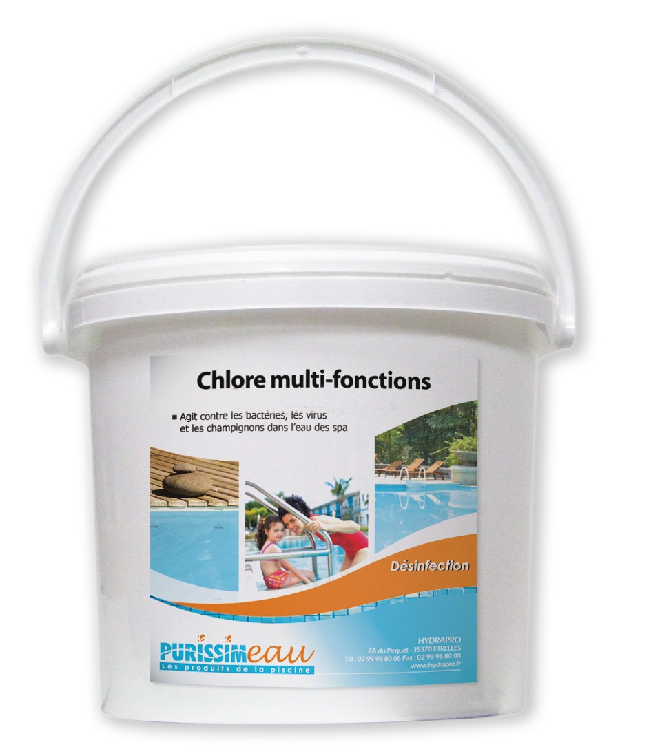 Galet multi fonctions chlore floculant algicide produit for Algicide piscine