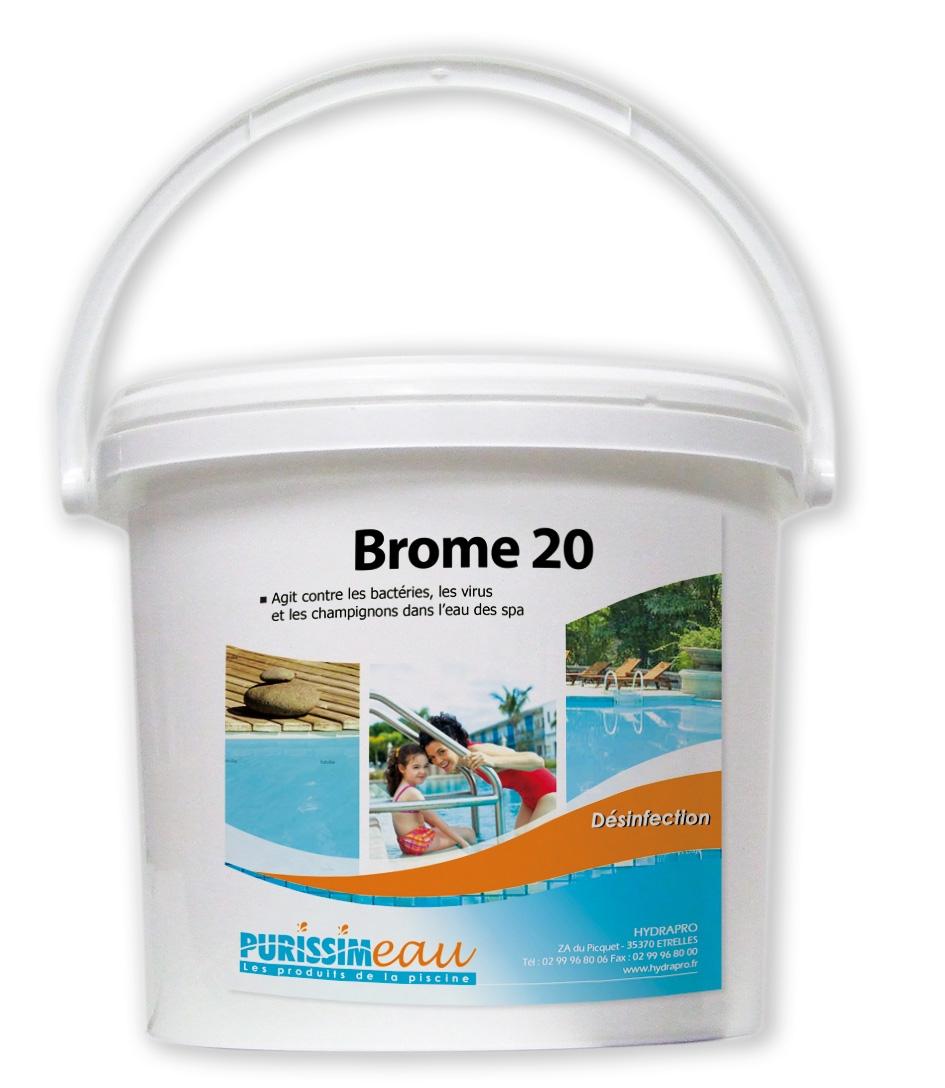 Brome galet produit piscine seau de 5 kg for Piscine brome