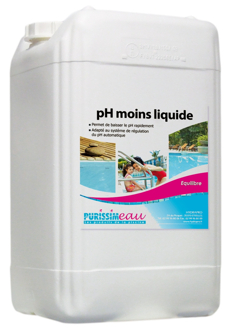 Ph moins ph minus liquide produit piscine bidon 12 5 kg for Produit piscine