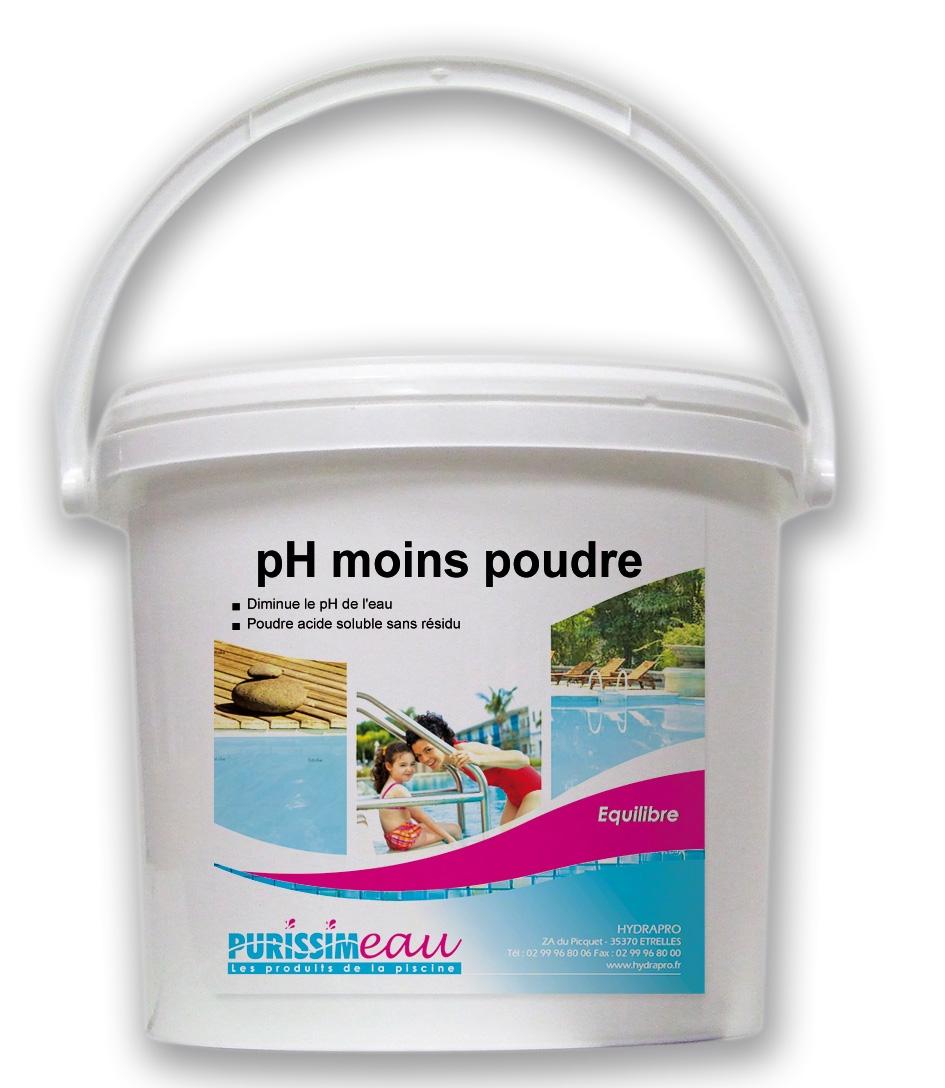 Ph moins poudre produit piscine seau 8 kg for Produit piscine