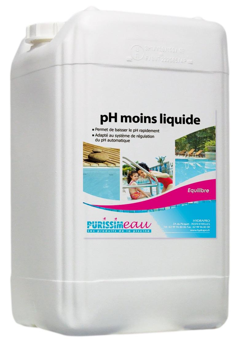ph moins ph minus liquide piscine