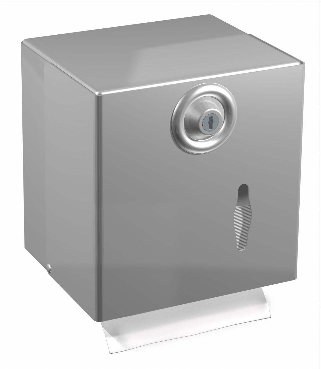 distributeur papier toilette mixte inox satin. Black Bedroom Furniture Sets. Home Design Ideas