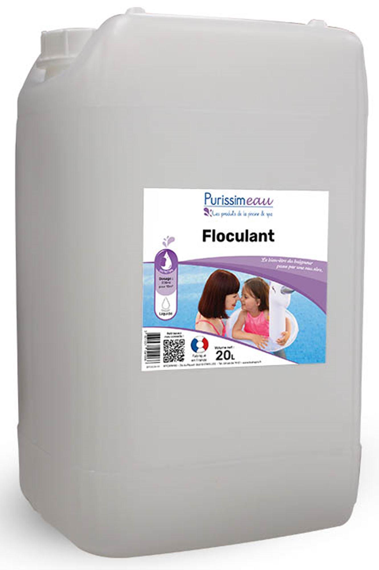 Floculant clarifiant pro liquide produit piscine bidon 20 l for Clarifiant piscine
