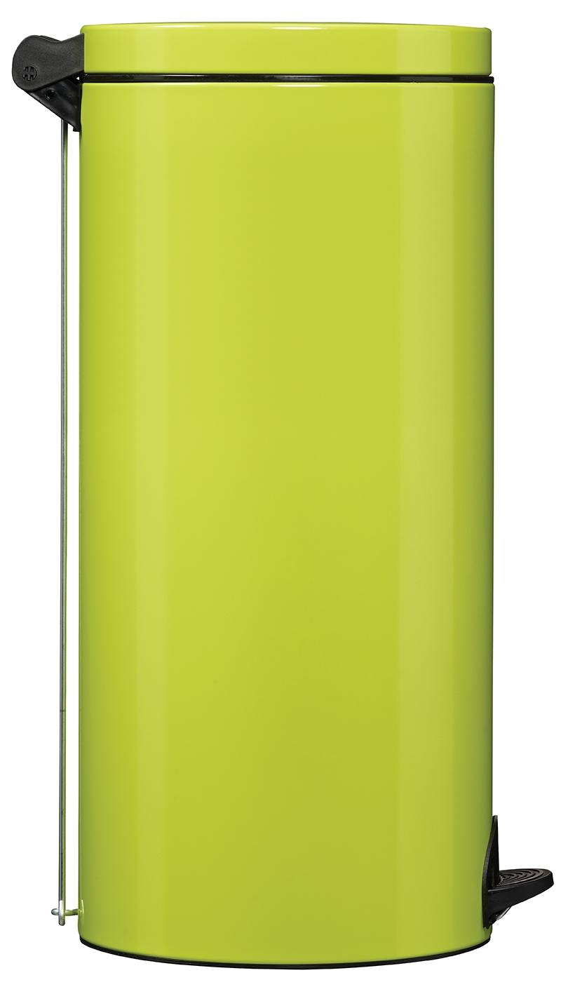 Poubelle p dale m tal 30l vert anis rossignol sanelia for Poubelle cuisine vert anis