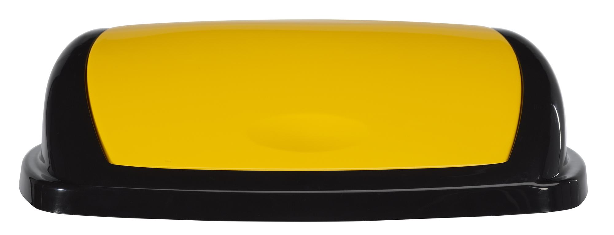 Couvercle jaune pour poubelle 50l rossignol baska - Poubelle cuisine jaune ...