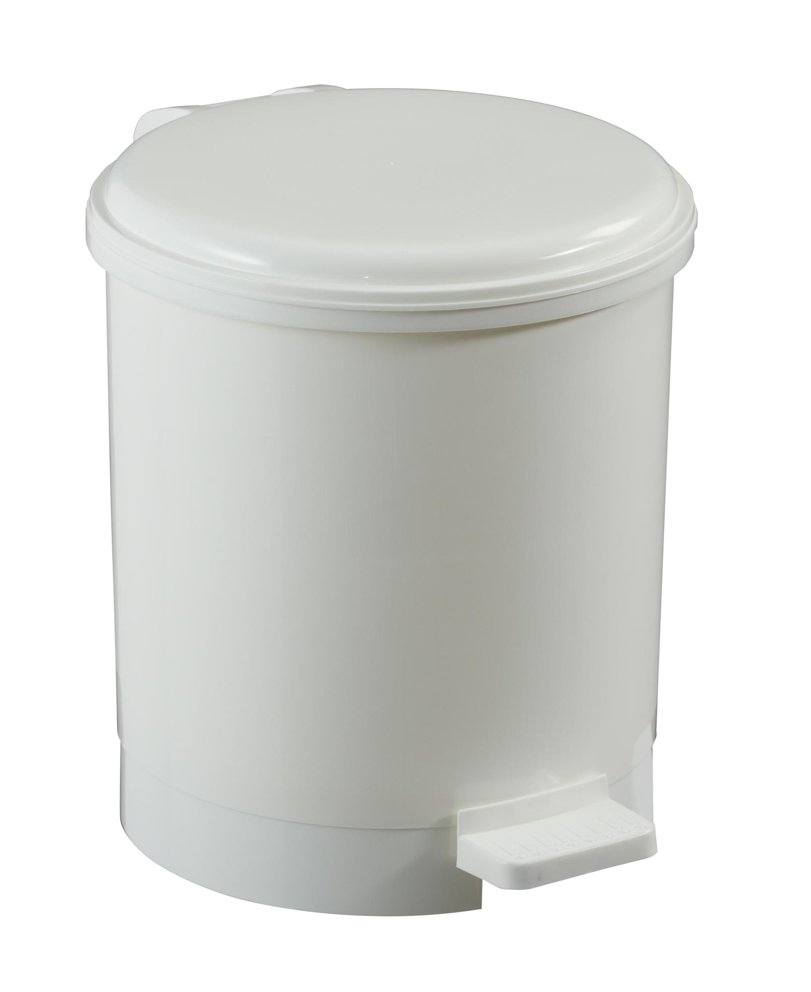 poubelle a pedale plastique rossignol 6 litres. Black Bedroom Furniture Sets. Home Design Ideas
