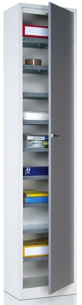 armoire metallique de rangement plat 1 grande porte 10 tablettes. Black Bedroom Furniture Sets. Home Design Ideas