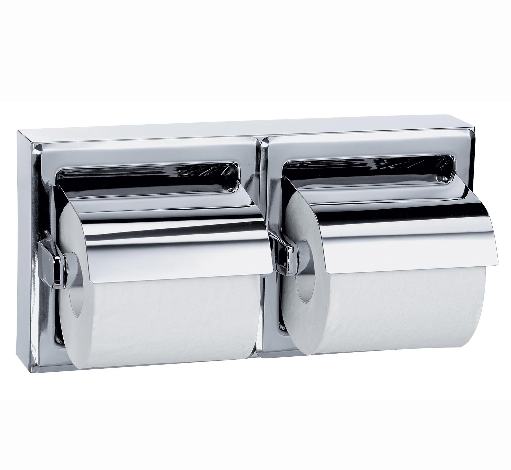 Distributeur de papier toilette inox 2 rouleaux - Distributeur de rouleaux de papier cuisine ...