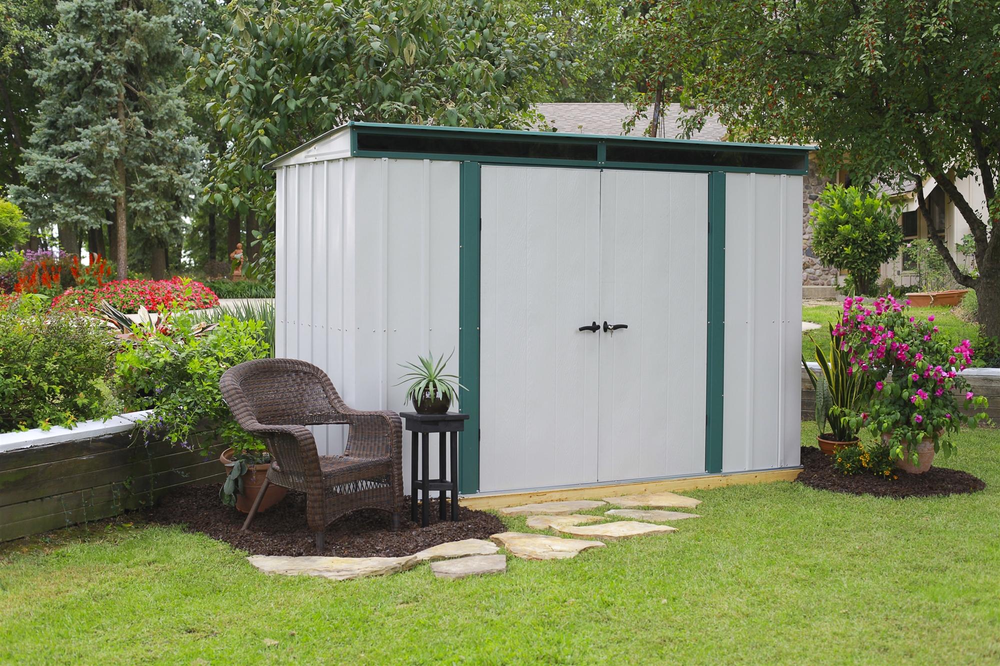 Abri de jardin metal arrow elphd104 - Abri de jardin acier galvanise ...