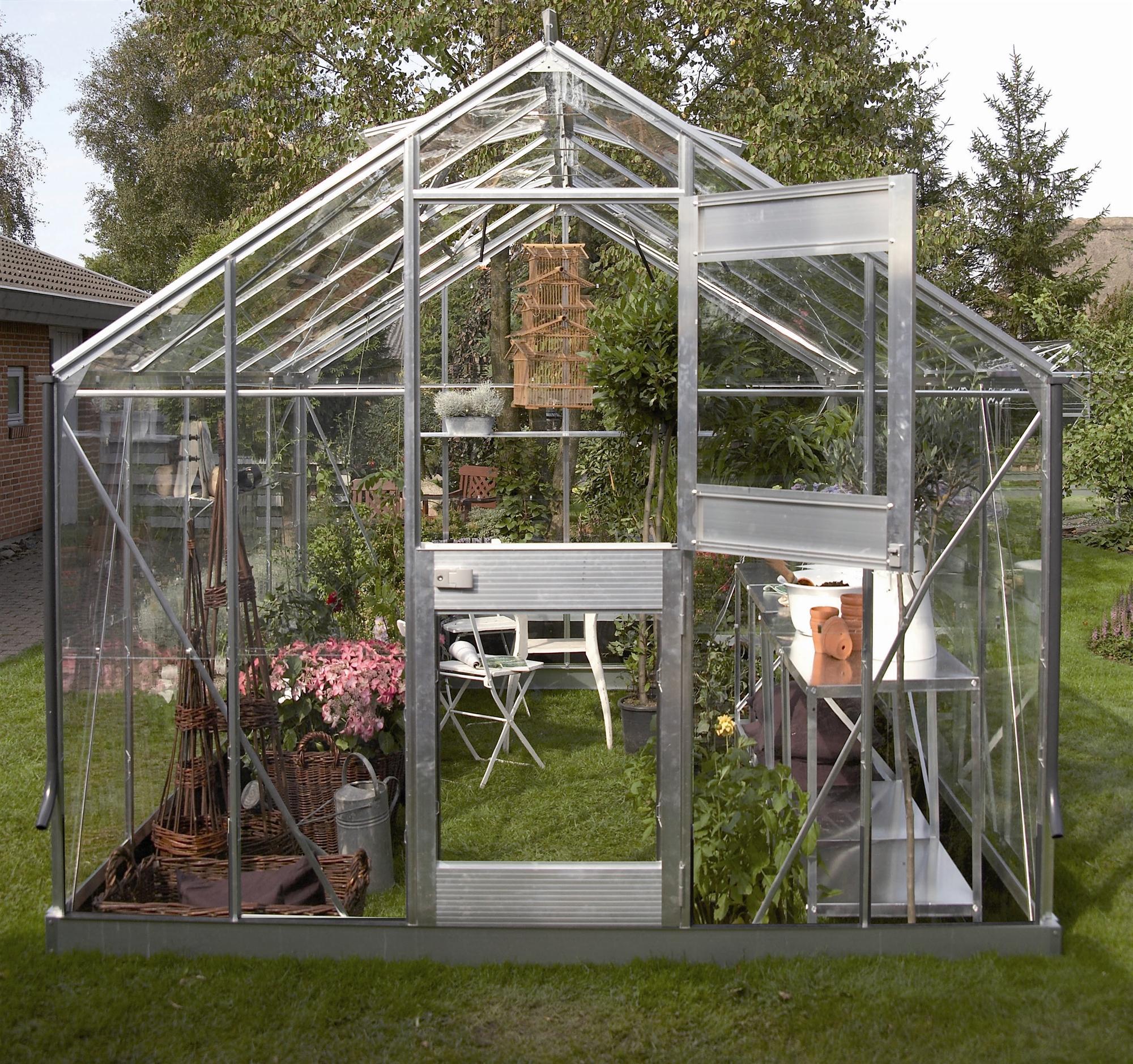 Serre de jardin Juliana pact Plus Alu 9 9m2 verre horticole
