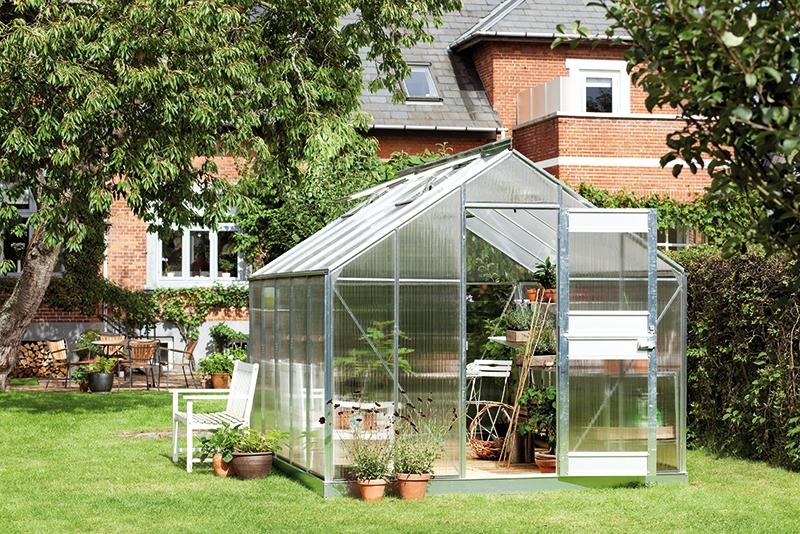 Serre de jardin juliana compact plus alu 9 9m2 polycarbonate - Serre polycarbonate 9m2 ...