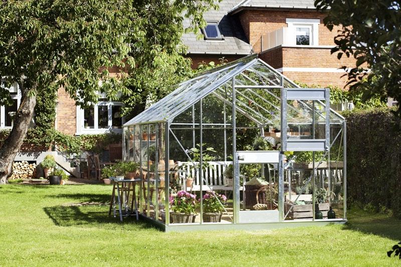 Serre de jardin juliana compact plus alu 12 1m2 verre for Jardin 1m2