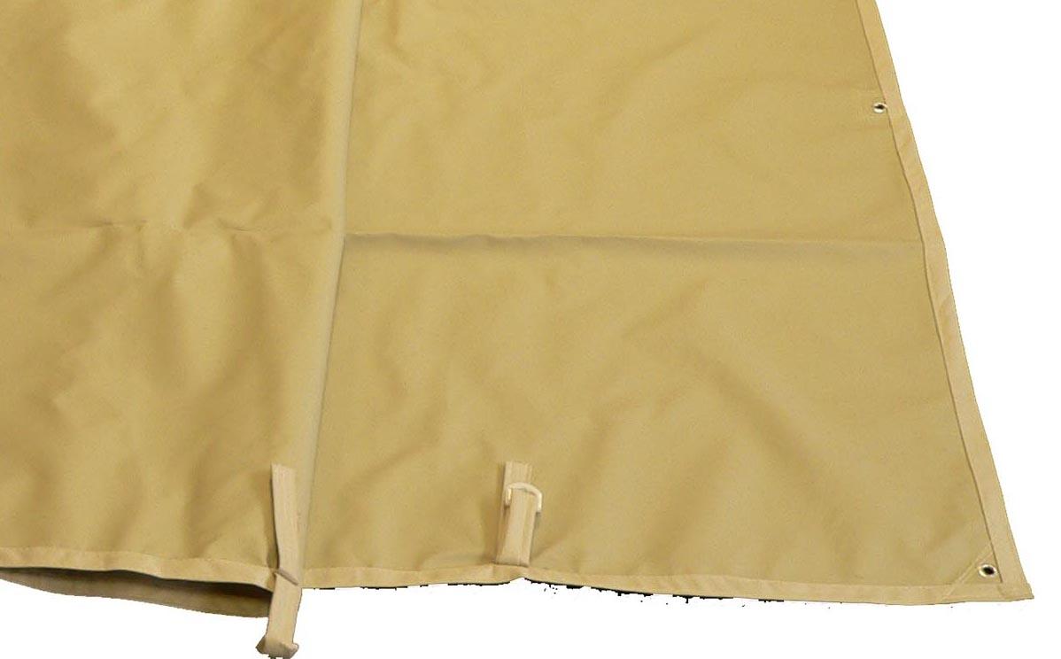toile imperm able tonnelle de jardin azur capri adossee 400 gr pet pvc. Black Bedroom Furniture Sets. Home Design Ideas