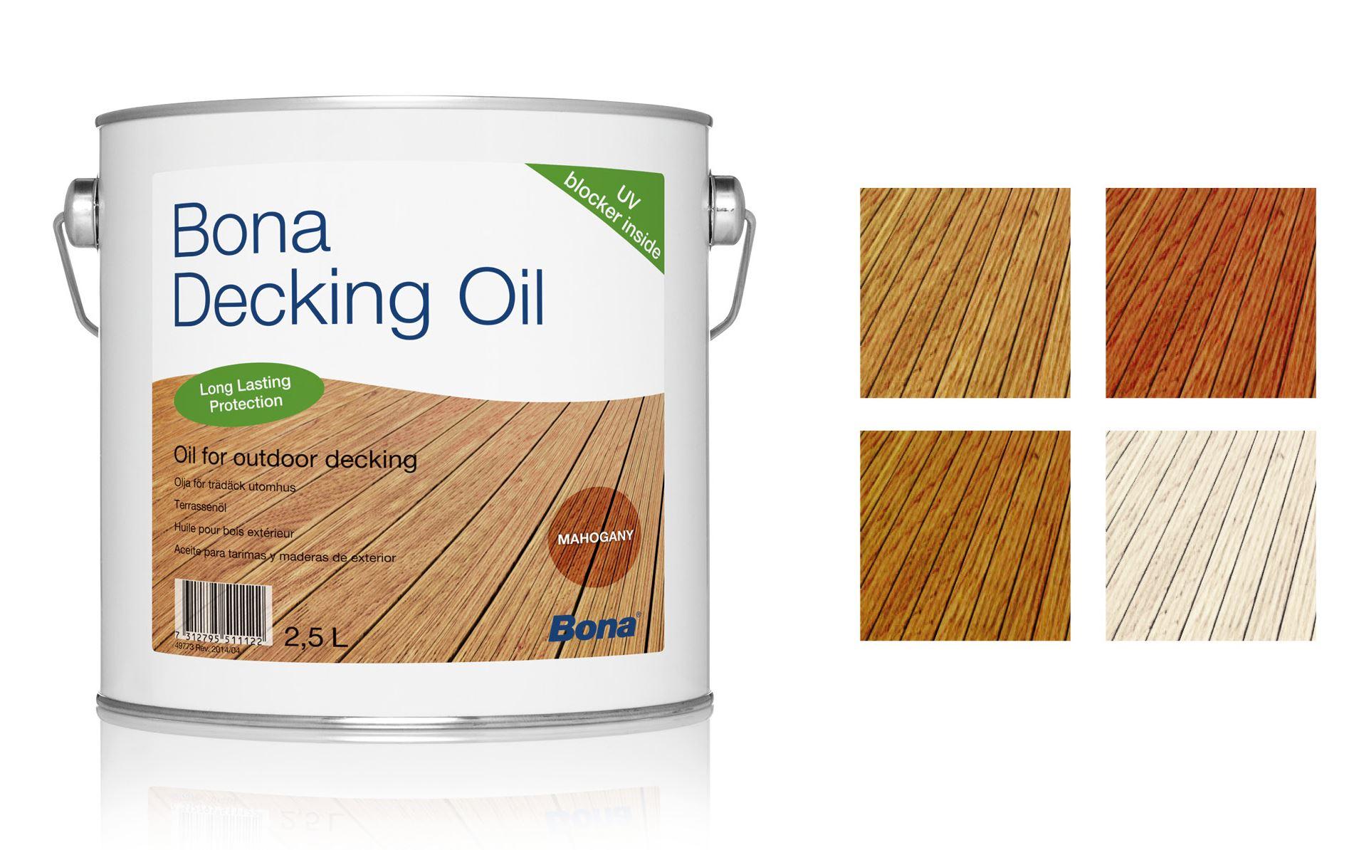 huile parquet exterieur bona deck oil incolore 2 5l. Black Bedroom Furniture Sets. Home Design Ideas