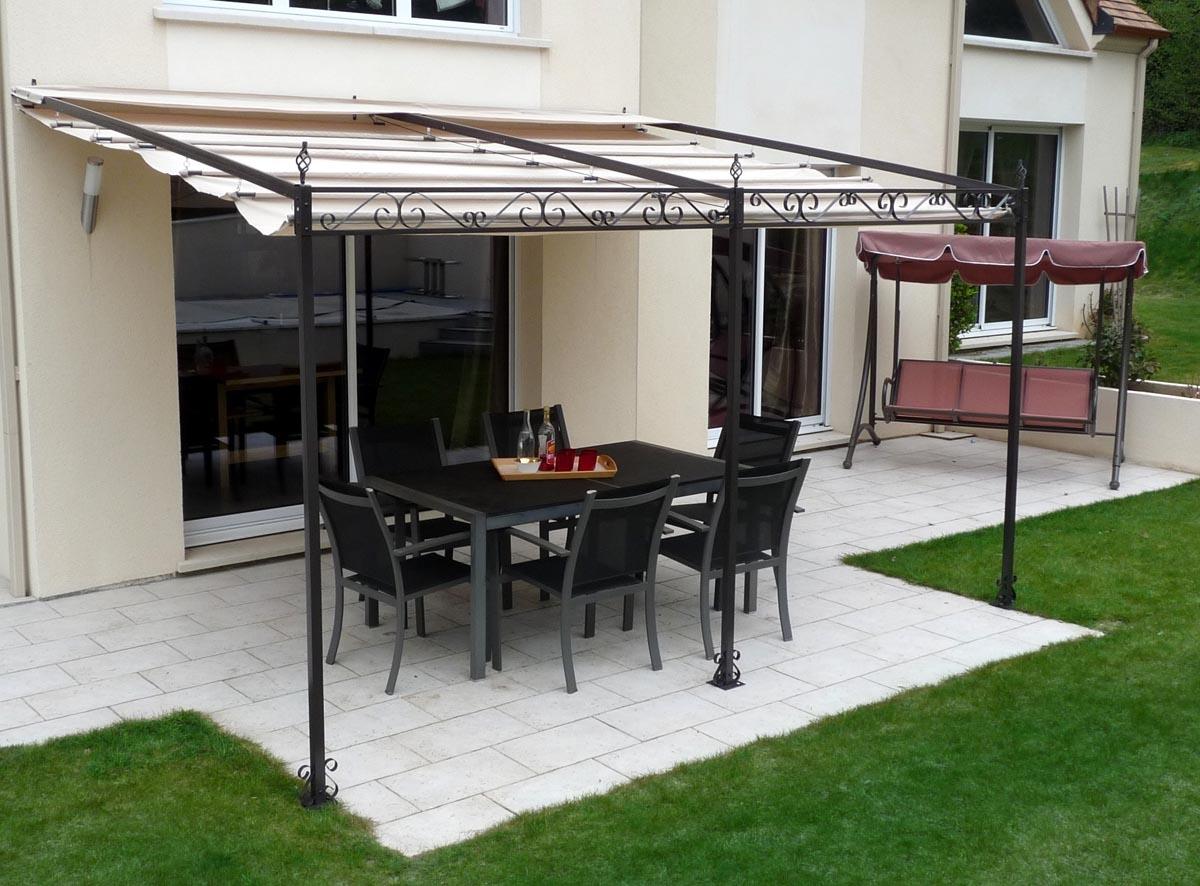 tonnelle de jardin toile coulissante adossee andalouse prestige 2013. Black Bedroom Furniture Sets. Home Design Ideas