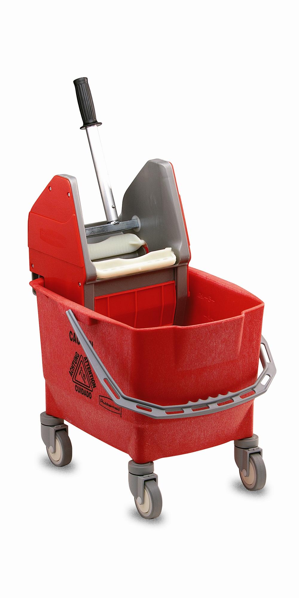 Chariot de menage rubbermaid combo bravo 25 l rouge avec presse for Chariot de menage rubbermaid