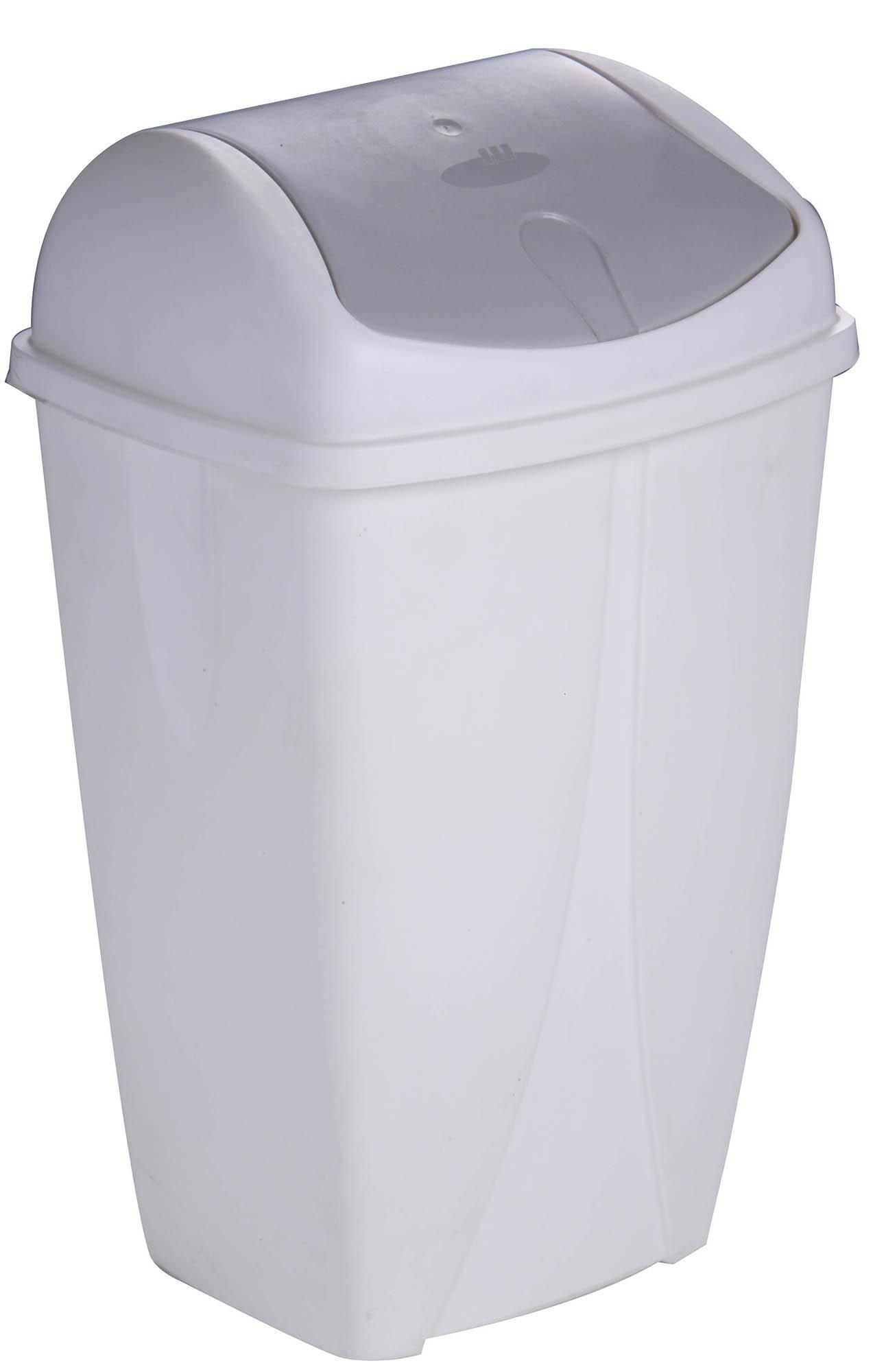 poubelle clapet 10 litres blanc plastique. Black Bedroom Furniture Sets. Home Design Ideas