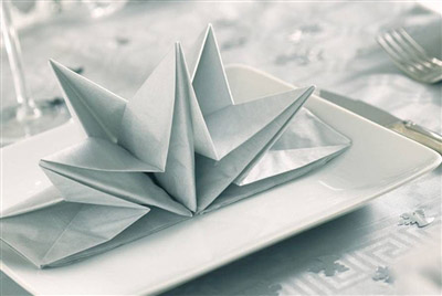 Exemple pliage serviettes papier pour noel